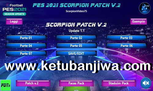 Download eFootball PES 2021 Scorpion Patch v2 + Update v1.1 Ketuban Jiwa
