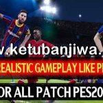 PES 2017 Realistic GamePlay Mod Season 2021