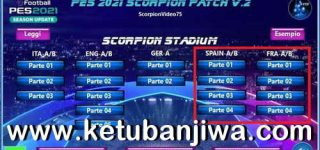 PES 2021 Scorpion Patch v2 + Update v1.0 Ketuban Jiwa