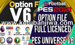 Download eFootball PES 2021 PES Universe Option File v6.0 All In One For PC + PS4 + PS5 Ketuban Jiwa