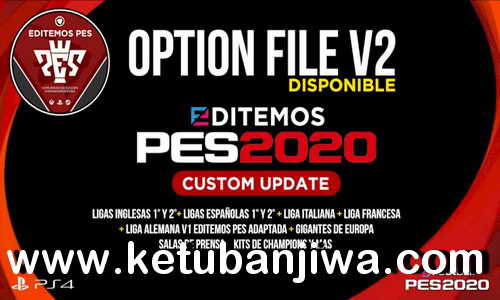 eFootball PES 2020 Editemos Option File v2 AIO Season 2021 For PS4 Ketuban Jiwa