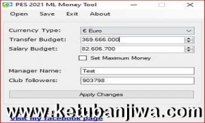 PES 2021 Master League - ML Money Tool For PC Ketuban Jiwa