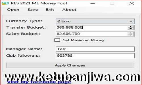 PES 2021 Master League - ML Money Tool