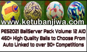 PES 2021 Ball Server Pack Vol.12 AIO by Hawke Ktuban Jiwa