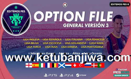 PES 2021 EditemosPES Opiton File v3 AIO DLC 5.0 For PC + PS4 + PS5 Ketuban Jiwa