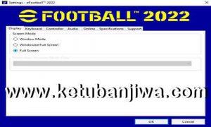 eFootball 2022 Settings.exe For Check PC Specifications Ketuban Jiwa